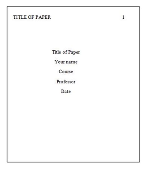 APA Style Research Paper Template AN EXAMPLE - Pinterest